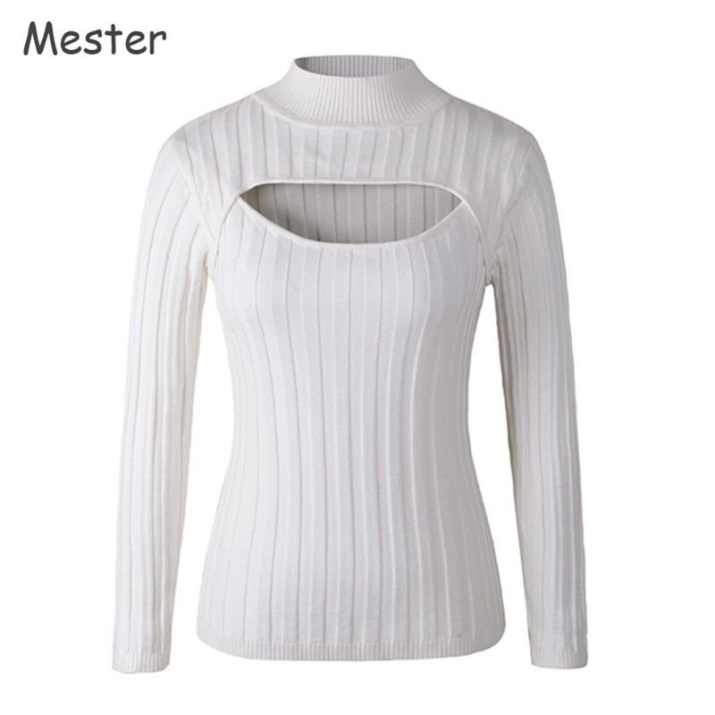 Japanese Sexy Turtleneck White Jumpers Anime Cosplay Open Chest ...