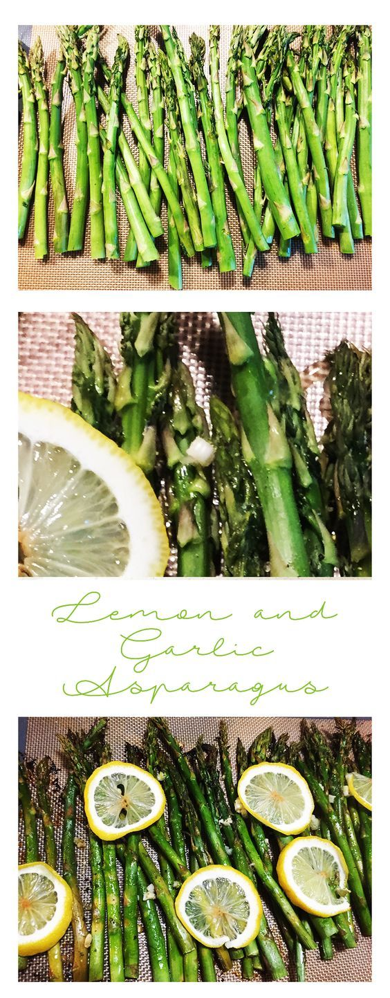 Lemon and Garlic Asparagus. An easy and healthy side dish.  Family favorite.