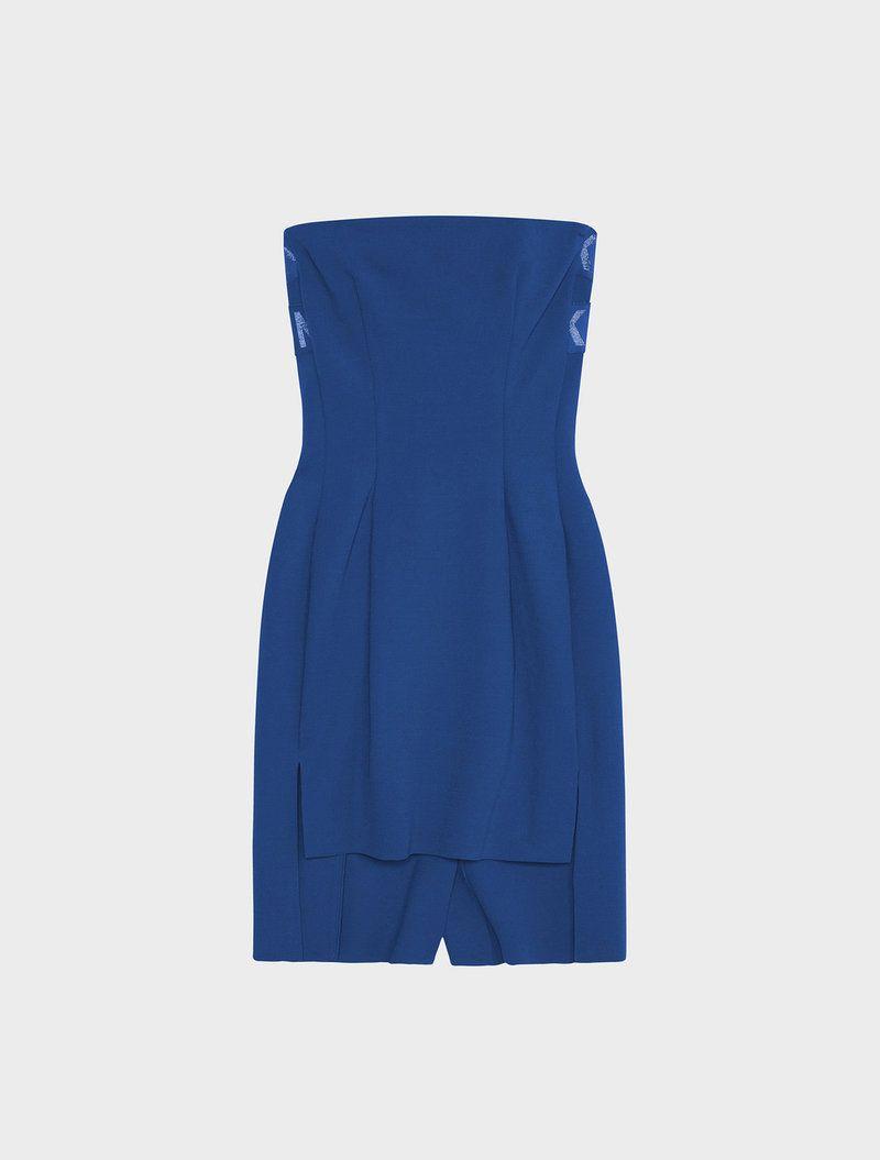 hot sales b09c2 58e59 DKNY Runway Tech Milano Tube Dress With Step Hem. #dkny ...
