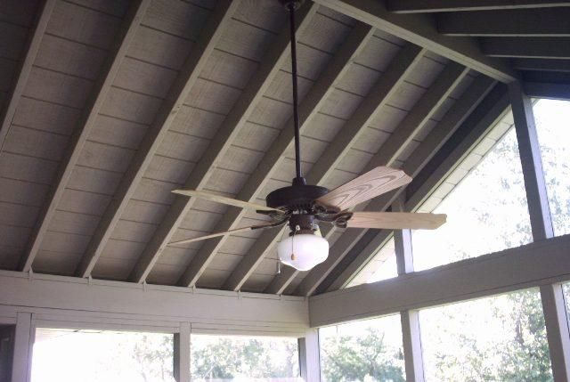 Screen Porch In Lockport Il Screened Porches Photo Gallery Porch Ceiling Screened Porch Ceiling Fan Makeover