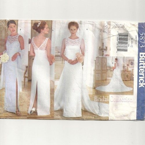 1998 Butterick 5873Bridal Collection Sewing Pattern. Misses\' lined ...