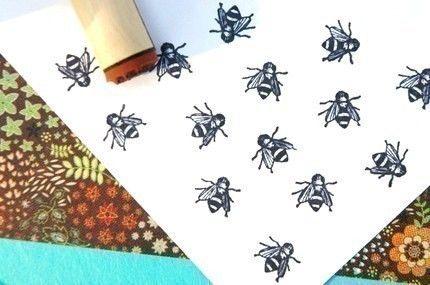 Windflowers rubber stamp from oldislandstamps