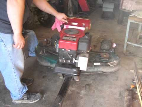 A Self Powered Mower Homemade From A Garden Tractor Deck Could Be Pulled By A Quad Or Truck Garden Tractor Tractors Lawn Mower Repair