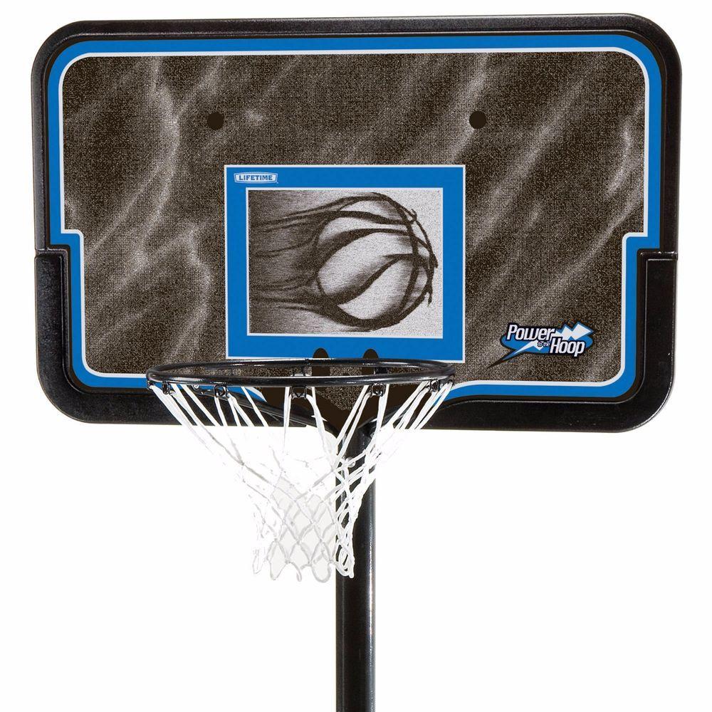 "Portable Basketball Hoop System Court 44"" Adjustable"