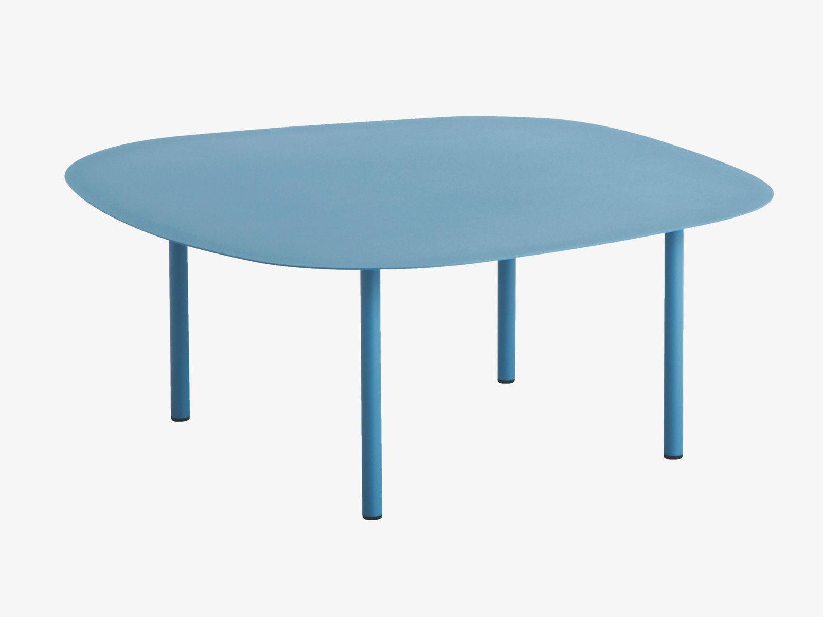 Maudjesstyling: CORA BLUES Metal Medium blue metal occasional table - HabitatUK