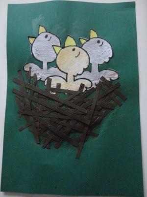 knutselen met peutertjes : Lente: vogelnestje