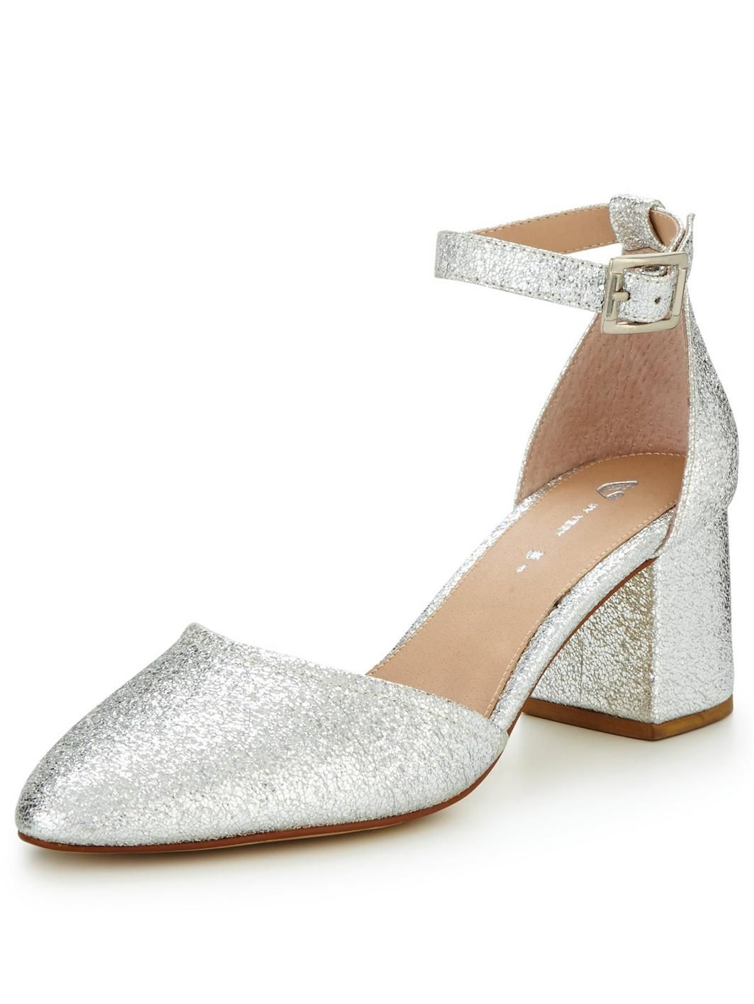 V by Very Sparkle Metallic Block Heel Shoe - Silver, http://www.very.co.uk/v-by-very-sparkle-metallic-block-heel-shoe-silver/1600139279.prd