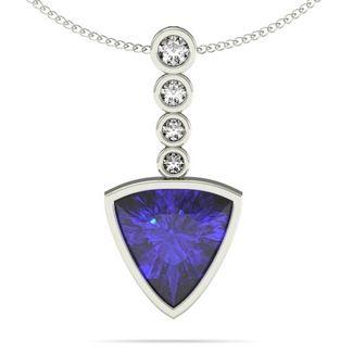 100ct trillion tanzanite pendant with 05ctw diamonds in 14k white 100ct trillion tanzanite pendant with 05ctw diamonds in 14k white gold aloadofball Gallery