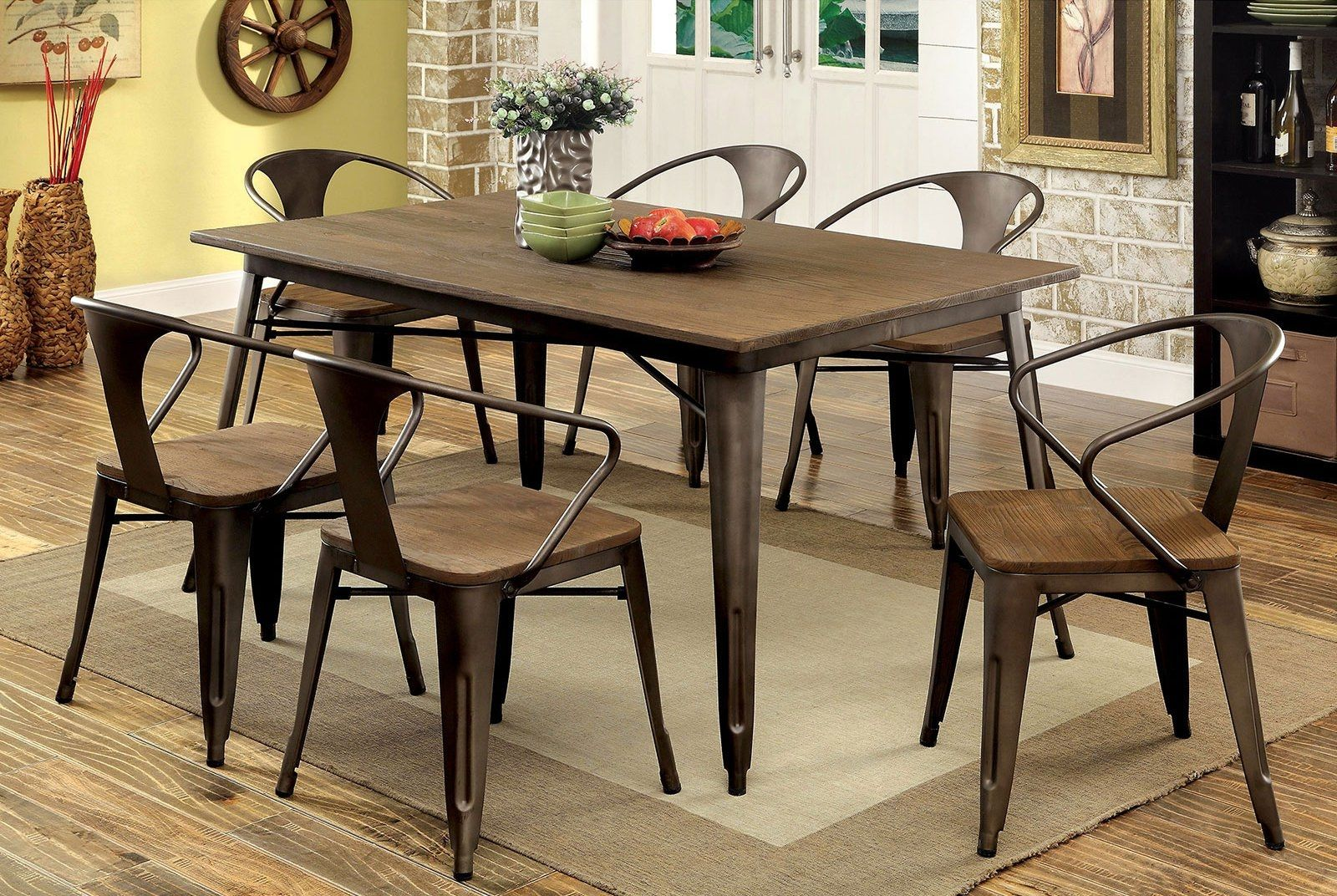 Cooper I Table Cm3529t Furniture Of America Dining Room Sets Dining Table Industrial Dining Chairs Industrial Dining Sets
