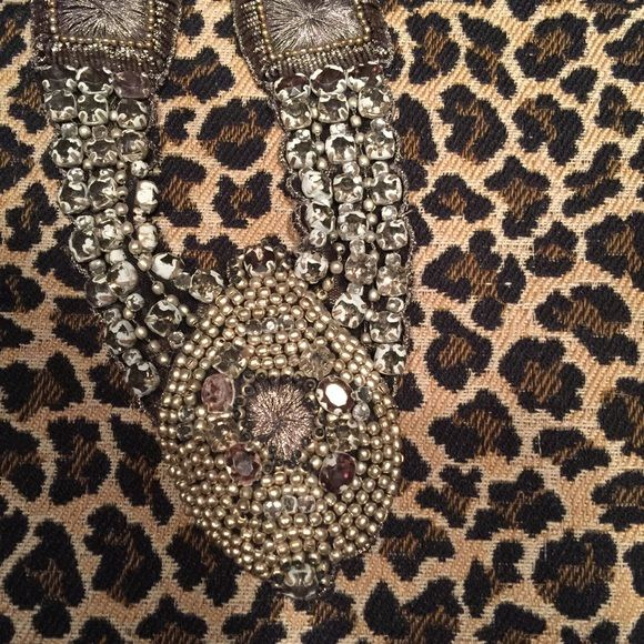 Necklace Necklace Ann Taylor loft. Tie necklace with studs and crystals. Looks great on neckline of grey shirts. Jewelry Necklaces