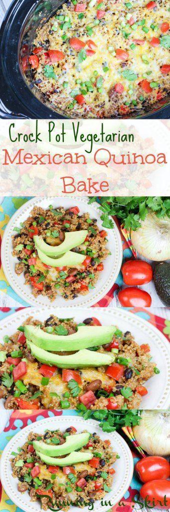 Simple Vegetarian Crock Pot Mexican Quinoa Bake a