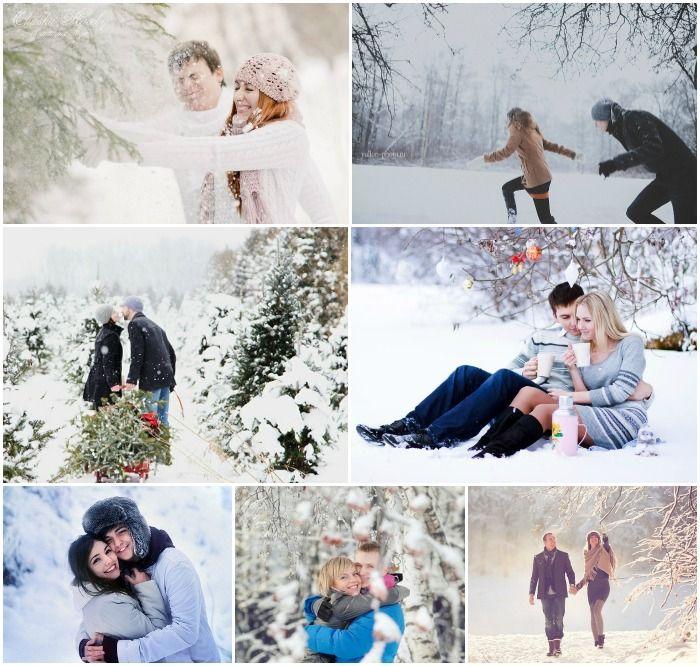 Идеи зимней фотосессии на приподе с любимым
