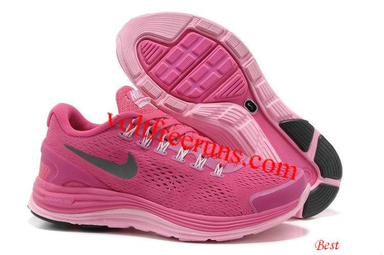 Nike Lunar Glide +4 Womens Shoes Black Grey