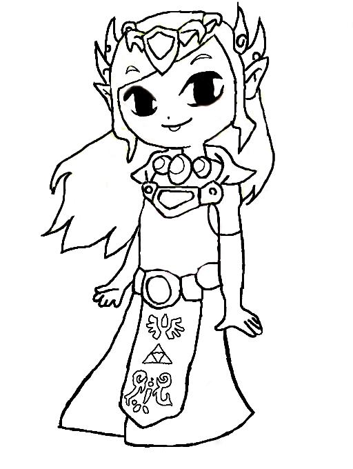 Zelda Coloring page Lineart Zelda & Link Pinterest