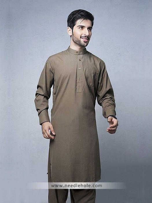 e2337b0fa0 Single pocket kurta shalwar suit for men in ecru color in 2019 ...