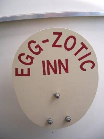 Egg-Zotic Inn 17 ft. Scamp tire holder.