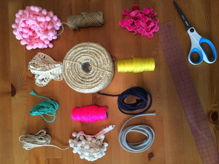 Teppich Selber Machen teppich selber machen materialien seil bommelband schnur teppich
