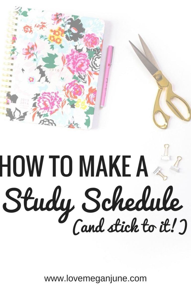 how to make a study schedule in college