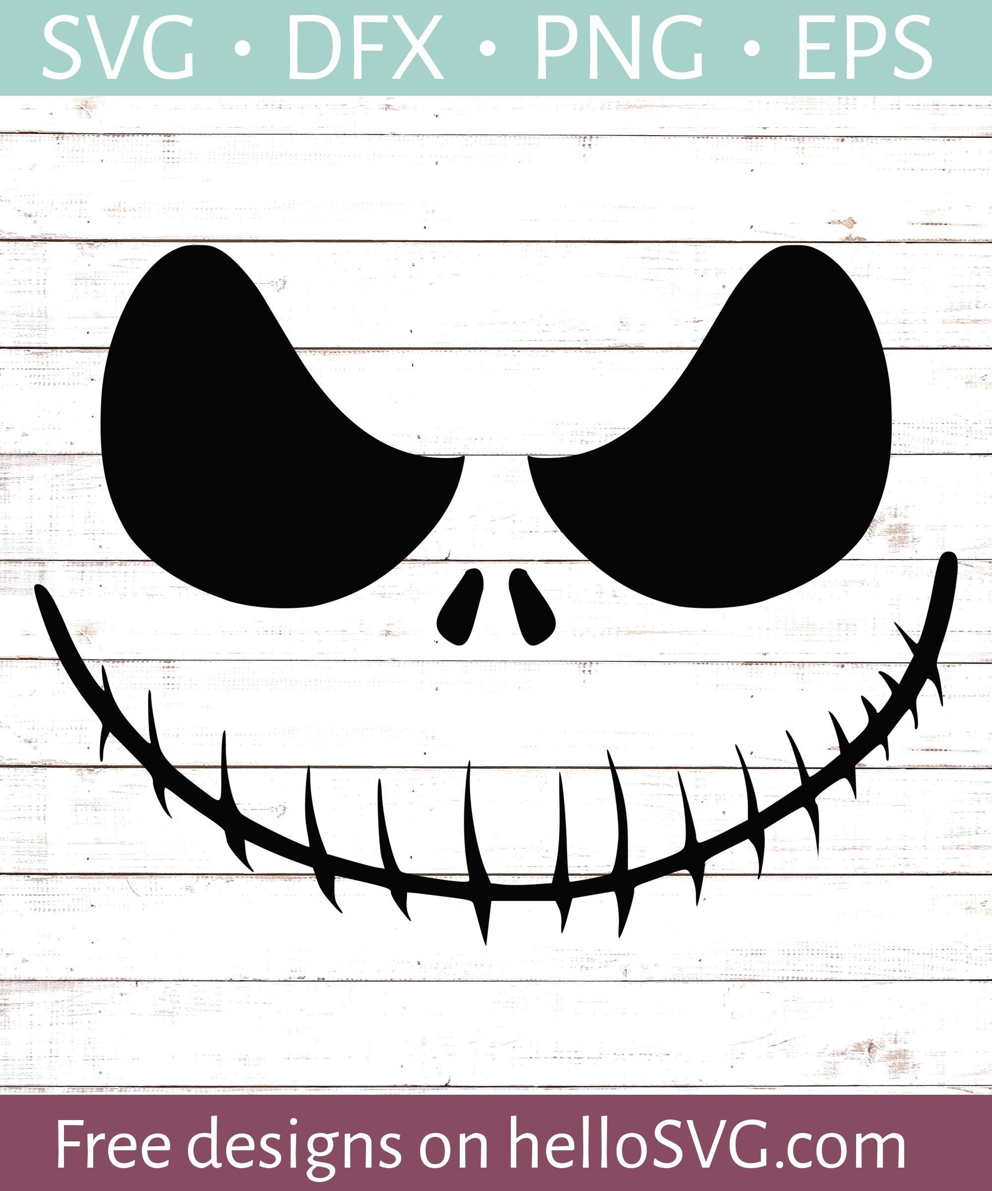 Nightmare Ghoul Smiling SVG - Free SVG files | HelloSVG com | SVG