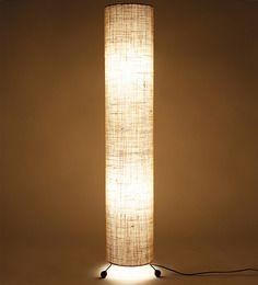 Lavish Cream Jute Round Floor Lamp