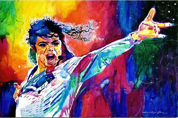 Michael Jackson Kunst Poster Drucken Aufkleber 20x30 Zoll Schlafzimmer  Dekoration Wandsticker Poster Tapete Versandkostenfrei(China