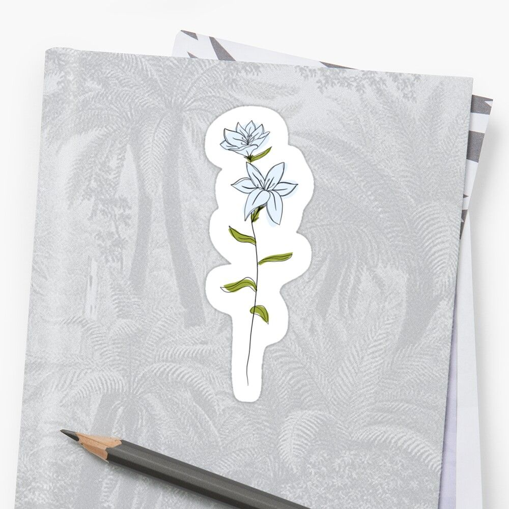 'May Flower Lily Color' Sticker by ekwdesigns in 2020