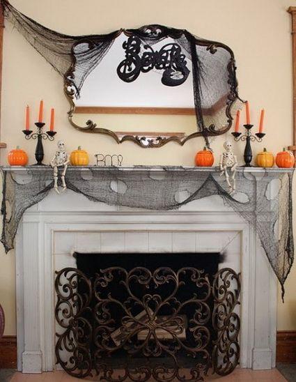 Chimeneas decoradas para Halloween Pinterest Halloween La