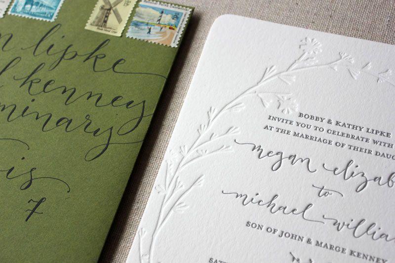 Megan mikes modern organic chicago wedding invitations