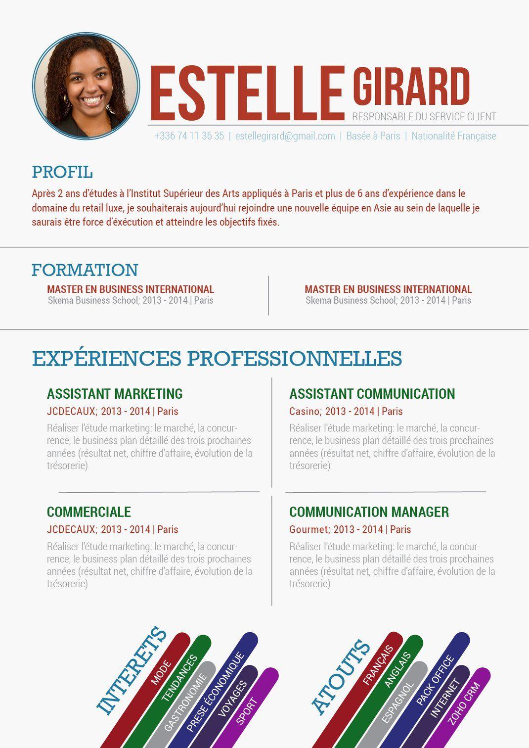 Exemple Cv Expert Resume Design Creative Resume Design Resume Design Template