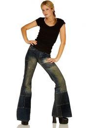 Patchwork flared jeans Star Spirit dirty denim