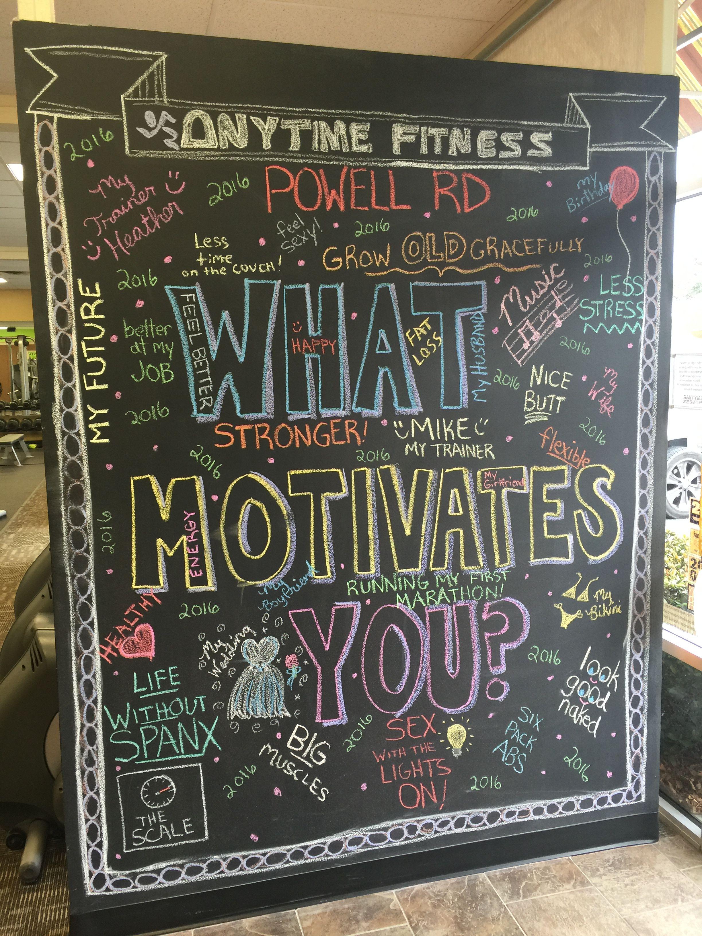 Pin By Rhonda Northcutt Mcnamara On Chalkboards Anytime Fitness Gym Gym Chalk Gym Art