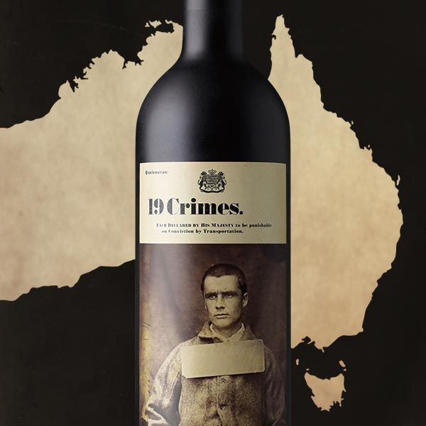19 crimes 2016 red wine Wines, 19 crimes wine, Crime