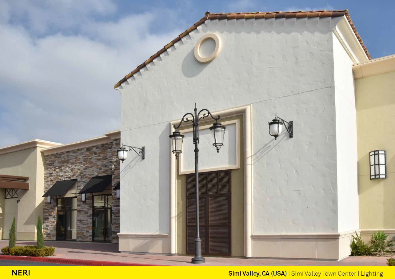 Neri spa illuminated simi valley with lamp posts of the