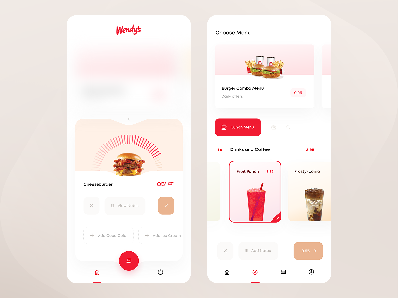 Wendy's Kiosk App — Status Check & Order in 2020 User