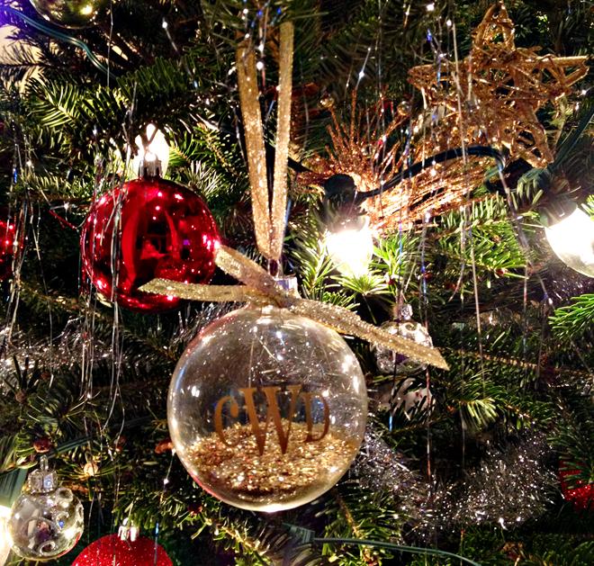 Monogrammed ornament