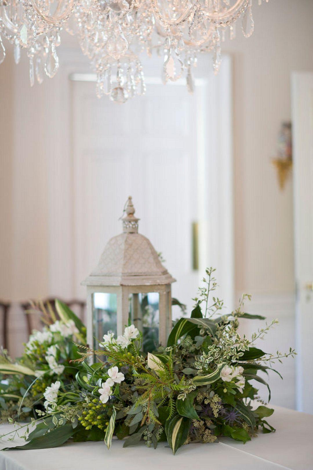45+ Awesome Lantern Greenery Wedding Centerpiece Ideas | Pinterest ...