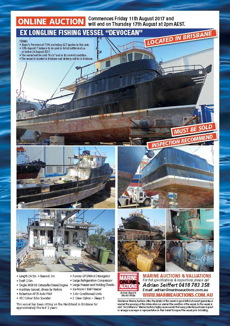 Marine Auctions August Online Auction - Ex Longline Fishing