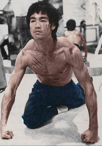 """""""Bruce Lee Stretching on The Set of Enter The Dragon !"""""""