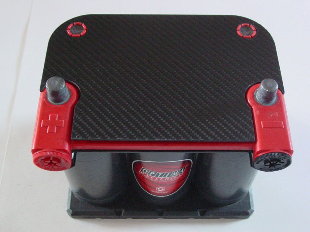 Carbon Fiber Battery Cover Optima Red Yellow Top Carbon Fiber Optima Battery Carbon
