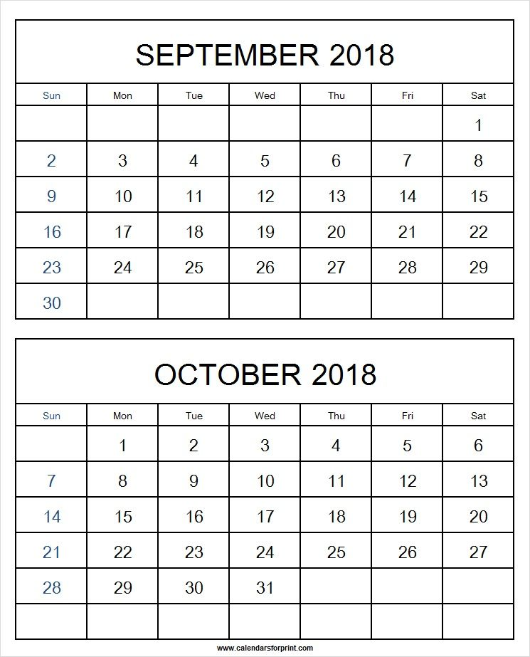 two month calendar template