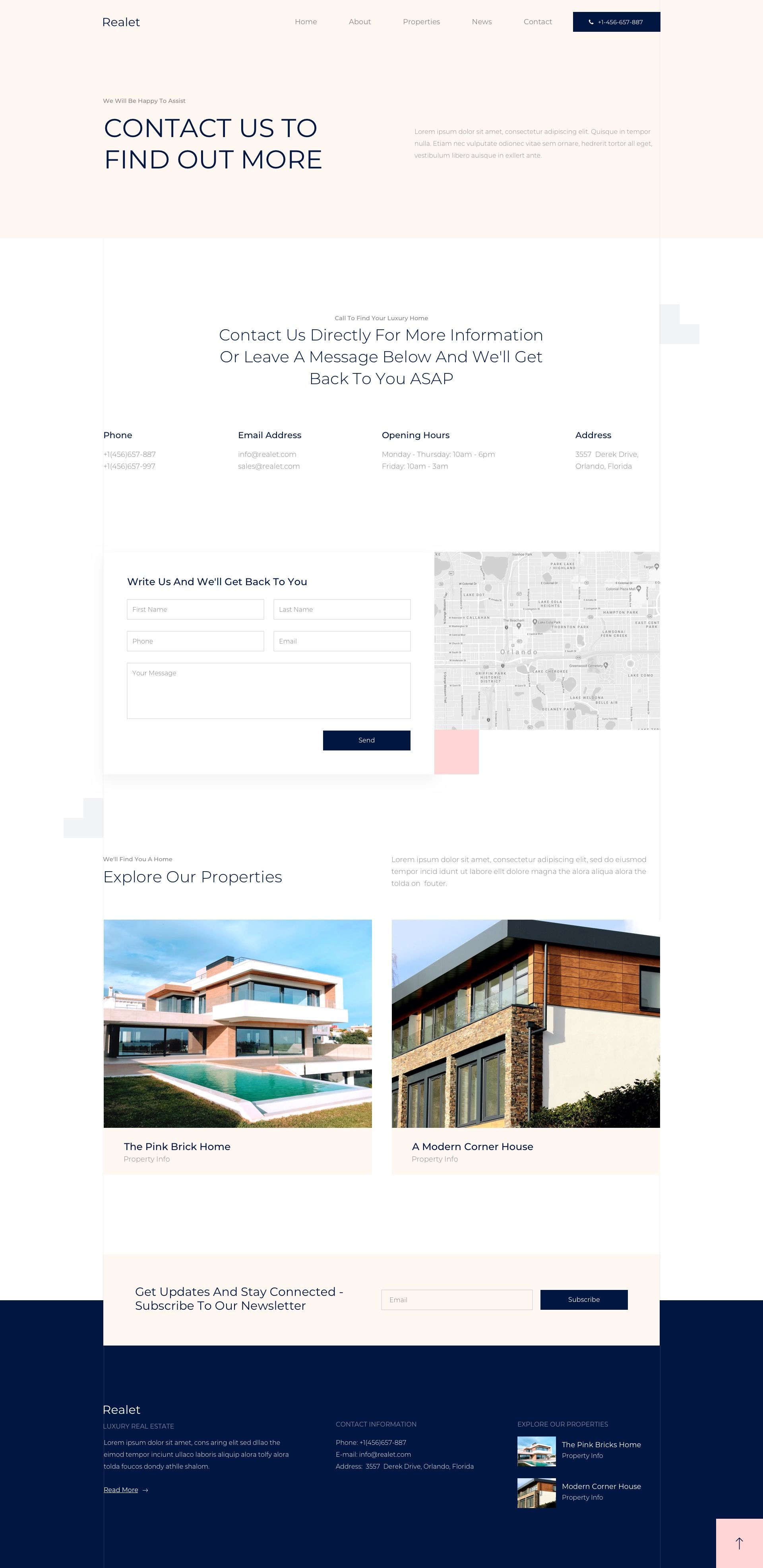 Elementor Real Estate Template Kit Contact Us Page Real Estate Templates Real Estate Website Templates Us Real Estate