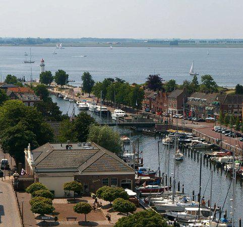 The harbour of Hellevoetsluis, Hellevoetsluis, Zuid Holland, Netherlands