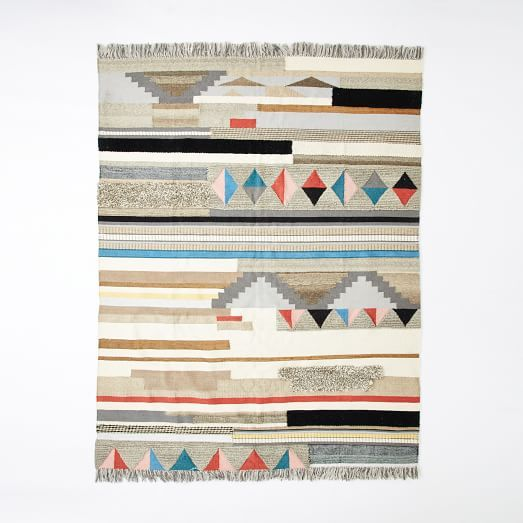 Boho Textured Wool Rug Boho Texture Rug Texture Geometric Rug