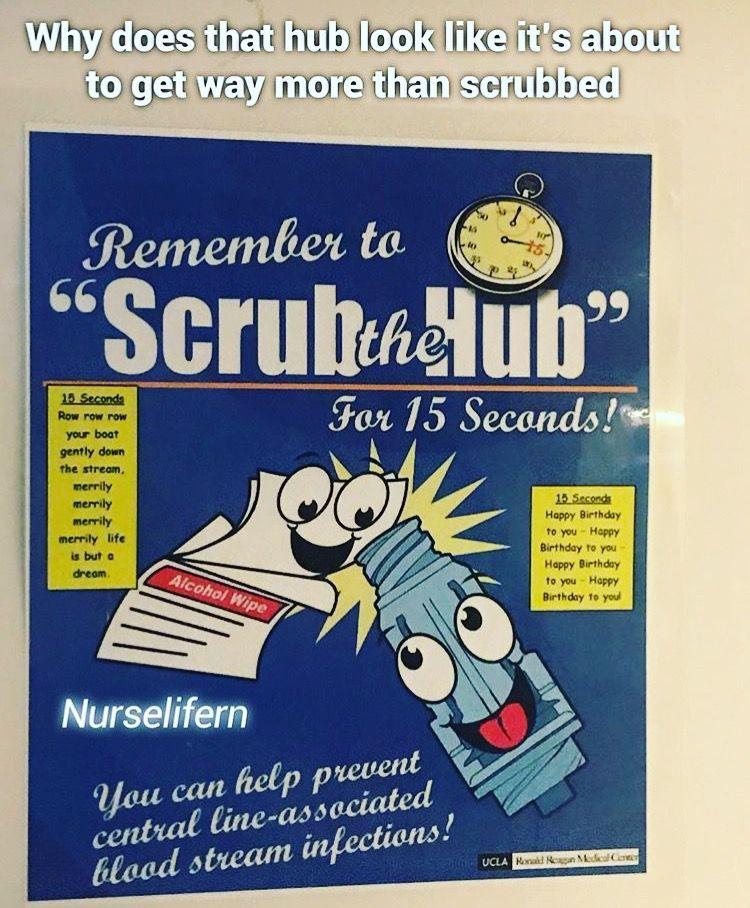 scrub the hub