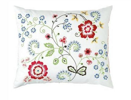 Alvine Flora embroidered pillow (discontinued)