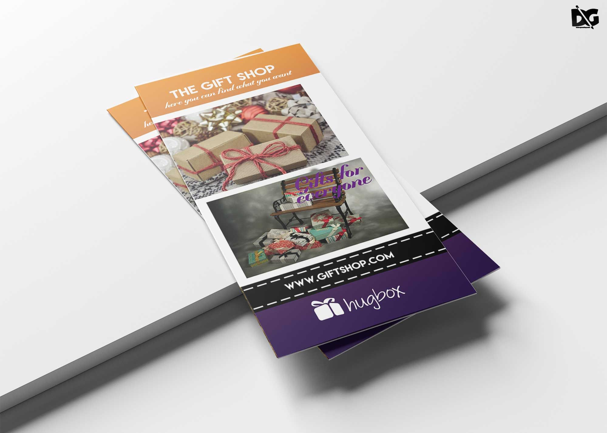 Free gift shop trifold brochure template trifold