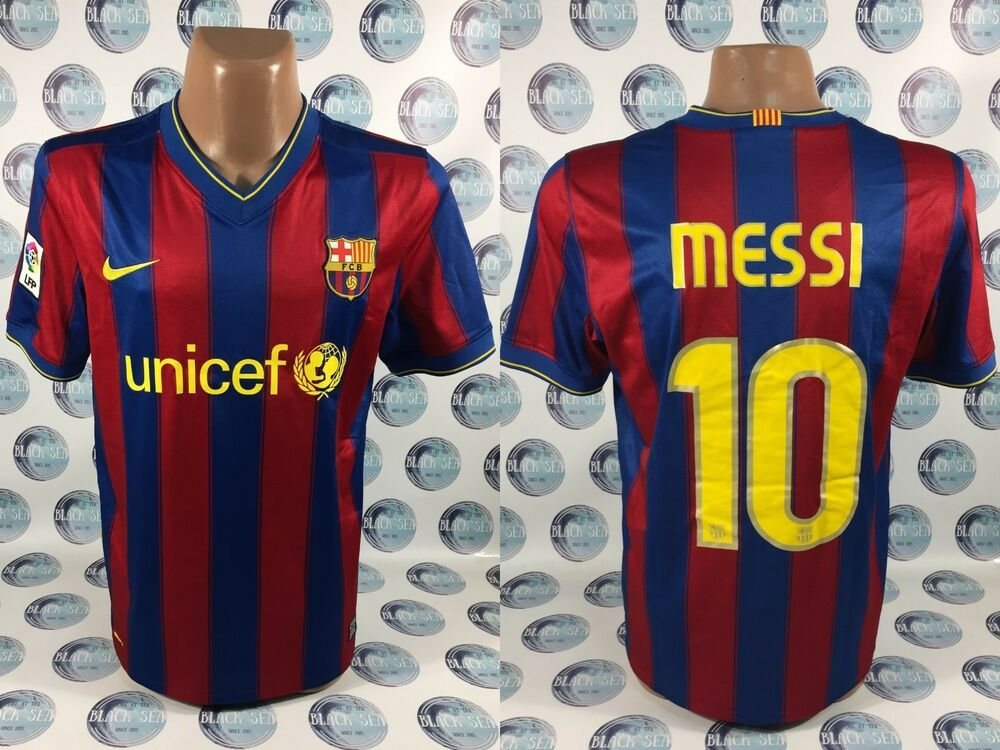 21f98871ee4 BARCELONA 2009 2010 #10 MESSI HOME FOOTBALL SOCCER SHIRT JERSEY CAMISETA  NIKE M #Nike #Barcelona