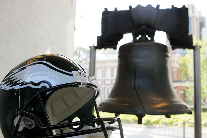 #FlyEaglesFly at the Liberty Bell