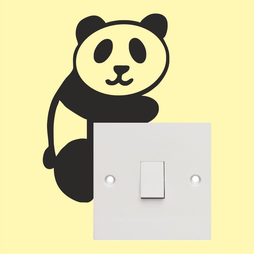 Panda light switch stickers - Wall Art Decal Stickers Quality New ...