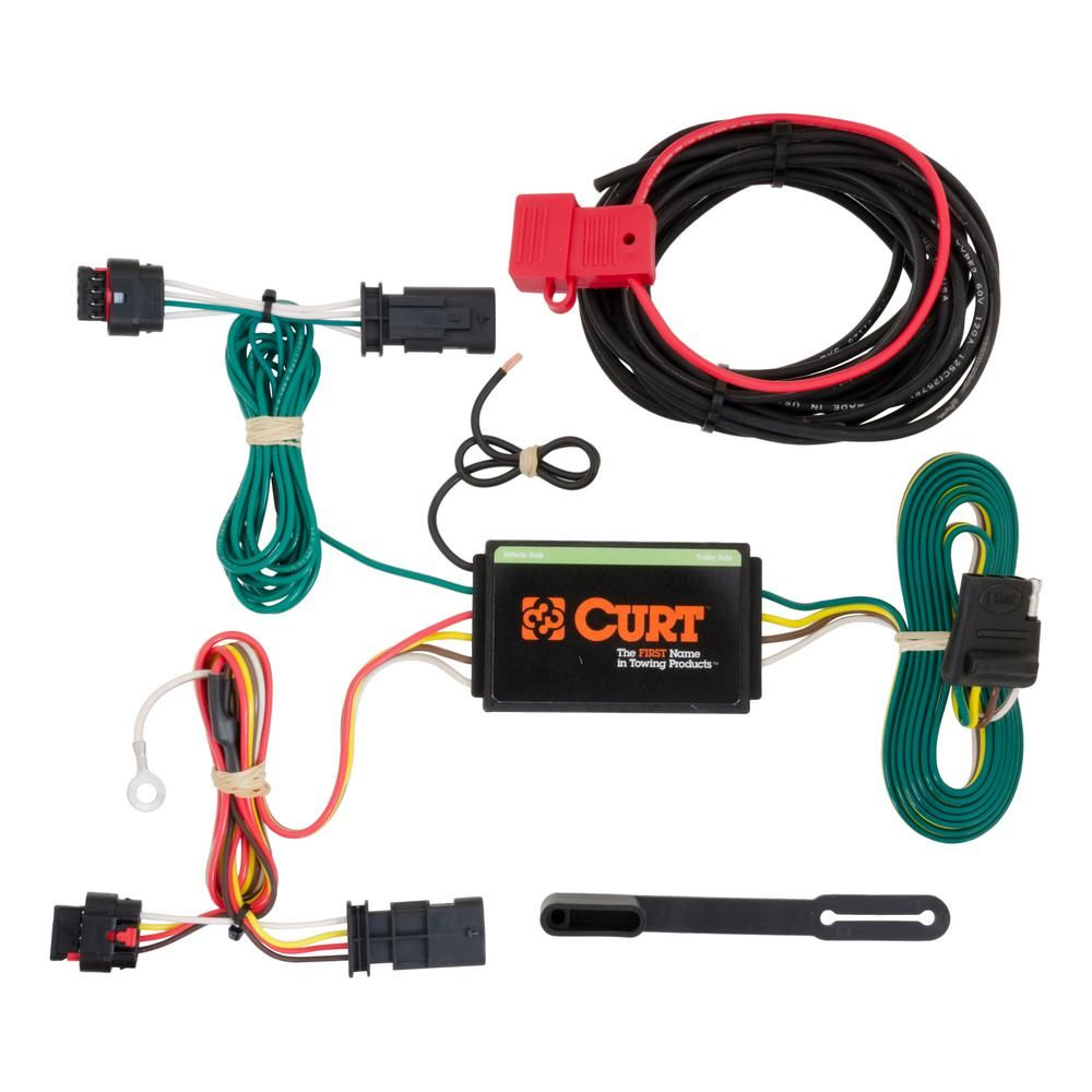Curt Custom Vehicle Trailer Wiring Harness 4 Way Flat Output Select Chevrolet Traverse Quick Electrical Wire T Connector 56181 The Home Depot In 2021 Custom Trucks Custom Wheels Trucks Chevrolet Traverse